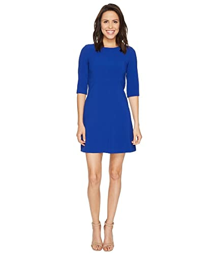 Tahari by ASL Womens Classic Double Woven Sleeved A-Line Dress
