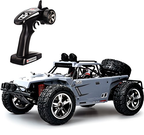 TOZO C5031 1:12 Large Scale RC CAR Desert Buggy Warhammer High Speed 30MPH+ 4x4 Fast Race Cars RTR 4WD Electric 2.4GHz Radio Remote Control Off Road Truck Powersport Gray