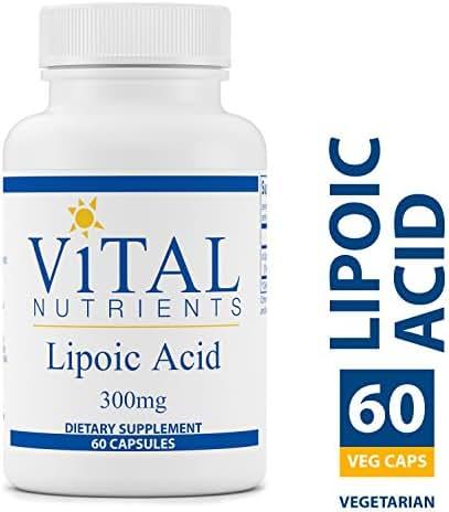 Vital Nutrients - Lipoic Acid 300 mg - Multi-Purpose Nutrient and Powerful Antioxidant - Blood Sugar Support - 60 Vegetarian Capsules per Bottle