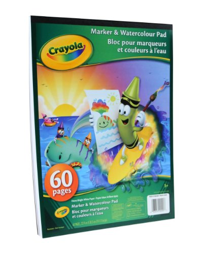 Crayola Marker and Watercolour Pad, School and Craft Supplies, Gift for Boys and Girls, Kids, Ages 3,4, 5, 6 and Up, Stocking Stuffers, Arts and Crafts