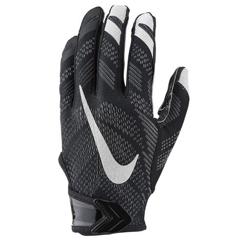 Nike Vapor Knit Football Gloves Black/Silver Medium