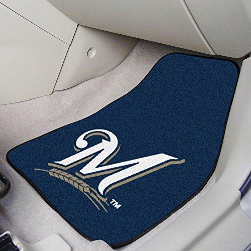 Major League Baseball Milwaukee Brewers 2-piece Carpeted Car Mats 18