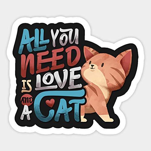 I Love Cats Animal Lover Funny Vinyl Sticker