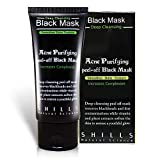 SHILLS Original Black Mask, Peel Off Mask, Removes Black Heads, Prevents Acne, Shrink Pores. Charcoal Mask, Blackhead Peel Off Mask (50 ML)
