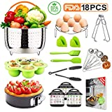 18 Pieces Pressure Cooker Accessories Set Compatible With Instant Pot 5,6,8,10 qt | Complete Accessory Kit For The Instapot |Highly Versatile Bundle With Free Recipe Ebooks.Best Gift Idea By Tecvinci