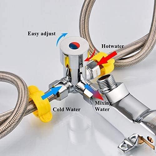 LukLoy G1//2 Robinet /à p/édale deau chaude froide et sans contact pour le lavage des mains dans les h/ôpitaux