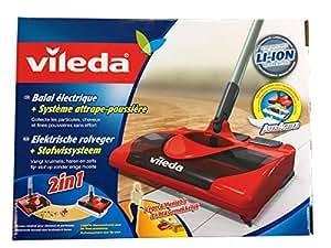 Vileda 123186 - Escoba eléctrica inalámbrica y recargable, práctica y ligera, apta para cualquier superficie (importado de Italia, instrucciones en italiano)