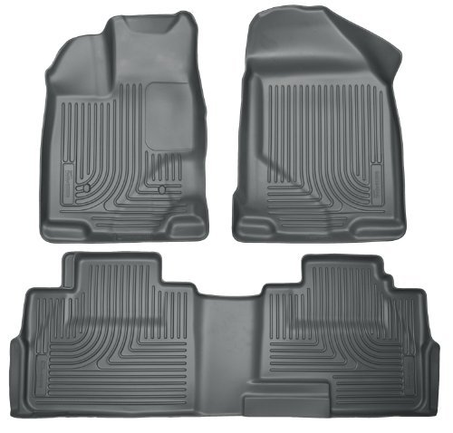 (Husky Liners 99762 WeatherBeater Grey Front and 2nd Seat Floor Liner by Husky Liners)