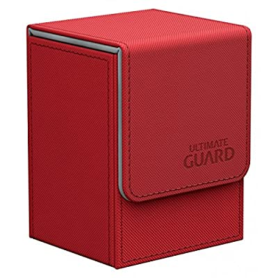 Ultimate Guard Flip Deck Case 80+ XenoSkin Standard Size Red Card Game: Toys & Games