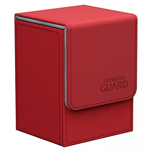 (Ultimate Guard Flip Deck Case 80+ XenoSkin Standard Size Red Card Game)