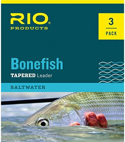 RIO Products Leaders Bonefish Knotless Leader 10 12Lb 6kg 3PAK, Clear