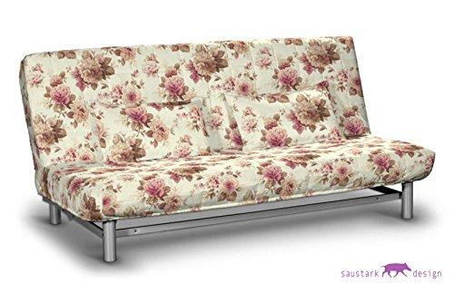 saustark design edinburgh short cover for ikea beddinge sofa bed floral beige erfahrungen