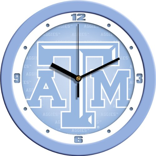 SunTime NCAA Texas A&M Aggies Wall Clock - Baby Blue