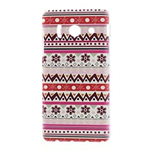 JUJEO Snowflake and Geometric Pattern PC Hard Cover for Huawei Ascend Y300 U8833 - Non-Retail Packaging - Multi Color