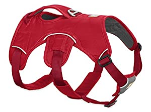 RUFFFWEAR Ruffwear - Web Master Dog Harness with Lift Handle, Red Currant, X-Small