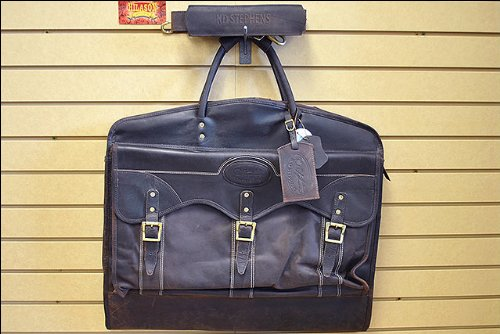 GARMENT BAG LUGGAGE SUITCASE RUGGED LEATHER by KDSTEPHENS