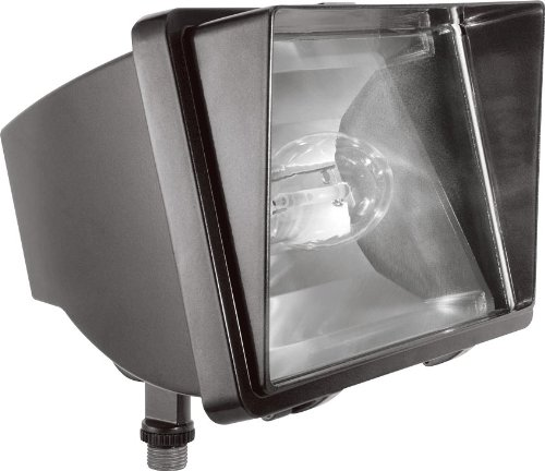 RAB Lighting FF70/PC Future Flood 70W HPS 120V NPF Lamp and 120V PC, Bronze
