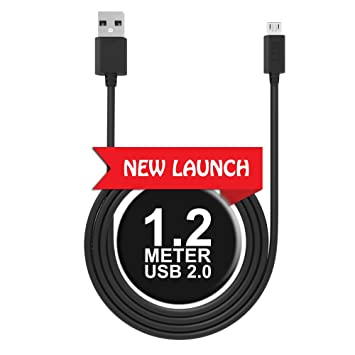 MTT Quick Charge Micro USB Cable  1M   ndash; Super Durable Sync  amp; Charge with 10000+ Bend Lifespan  1 Meter, Black  Mobile Phone Data Cables