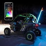 1x Whip XKchrome Advanced App Control LED Whip Light Kit for 4x4 Offroad UTV ATV Can-Am Polaris Razr Yamaha
