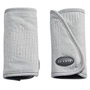 JJ Cole - Reversible Strap Covers, Supports Baby's Comfort in The Car Seat and Stroller, Gray Herringbone, Birth and up