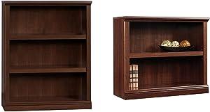 Sauder 3 Shelf Bookcase, Select Cherry finish & 2-Shelf Bookcase, Select Cherry finish