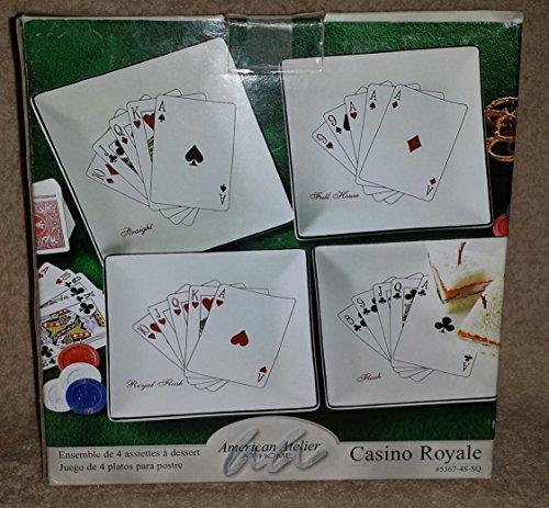 American Atelier At Home Casino Royal Dessert Plate Set