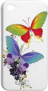 IMD blanc Retour Case papillon Imprimer Cover pour iPhone 4 4G