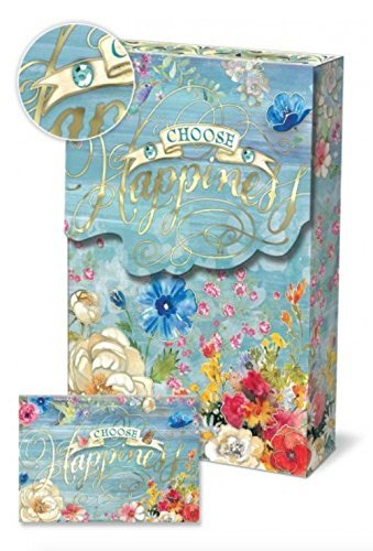 Punch Studio Collection Decorative Pouch Note Cards, Choose Happiness