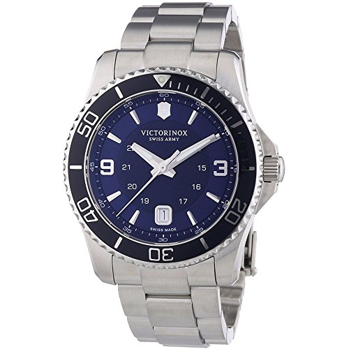 Victorinox Swiss Army Men's 241602 Maverick Watch with Blue Dial and Stainless Steel - Men The Maverick