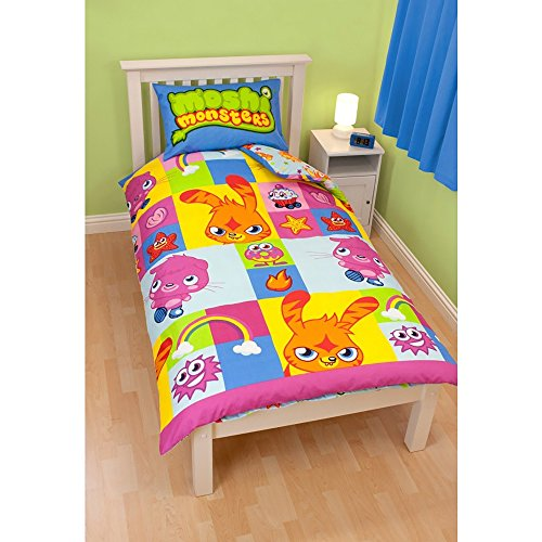 Moshi Monsters Childrens/Kids Single/Twin Duvet Cover, used for sale  Delivered anywhere in USA