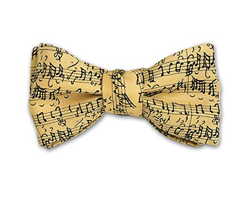 - Josh Bach Mens Music by JS Bach Self-Tie Silk Bow Tie Cream, Made in USA