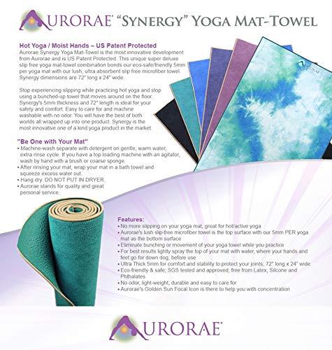 Aurorae Synergy - Esterilla de yoga 2 en 1, con toalla de ...
