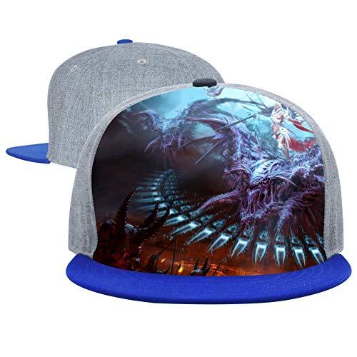 (Awesome Dragon Unisex Adjustable Hip-hop Hat Snapback Baseball Cap Blue)