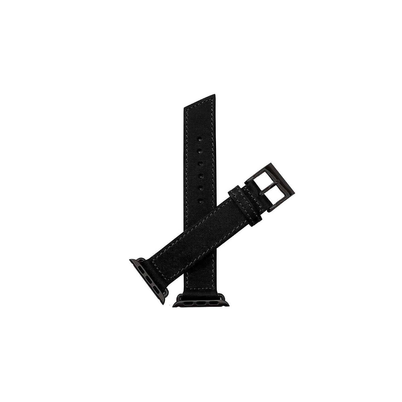 Nie Analog. Marken Classic Unisex schwarz Leder Schnalle Pin