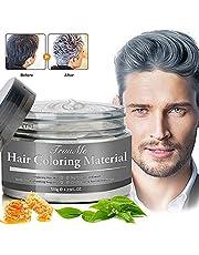 Cire Cheveux, Cire Cheveux homme, Cire Colorante Cheveux, Cire Cheveux Femme, hair wax, Gris Cire Pour Cheveux - Cire naturelle pour cheveux pour Cosplay et Party