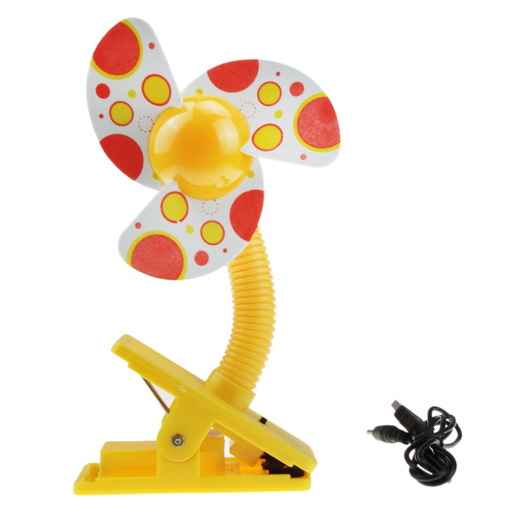 Amazon.com: BXT USB/Battery Powered Baby Infant Toddler Safety Clip On Mini  Stroller Fan For Strollers Baby Cots Playpens Buggy Pram   Yellow: Baby