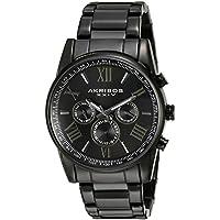 Akribos XXIV Men's AK904BK Black Multi-Function Quartz Bracelet Watch