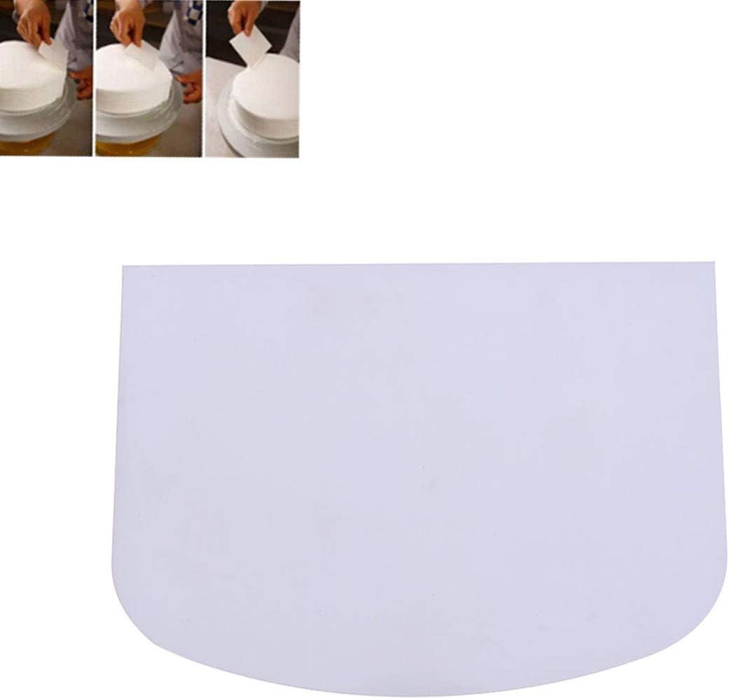 Hemoton hornada de la Cocina Herramientas Crema en Forma de semic/írculo Torta de Masa Cortador de Cocina raspador de la hornada de pl/ástico para Cocina de la casa Blanco Suave