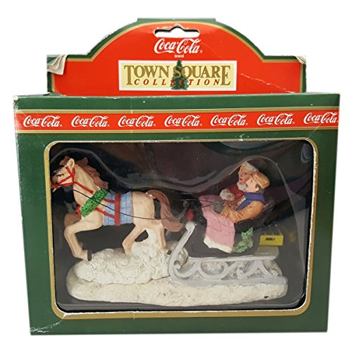 Coca Cola Town Square Accessory (1994) Sleigh Ride - Town Stores Square