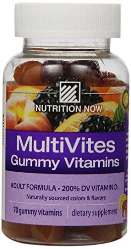 Nutrition Now Multi Vites Gummy Vitamins, 70-Count Bottles (Pack of 2)