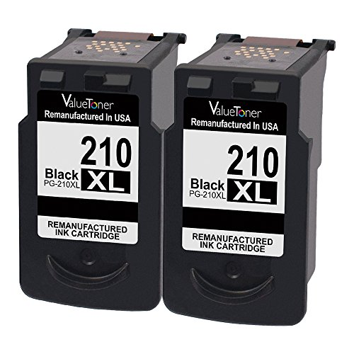 Price comparison product image Valuetoner Remanufactured Ink Cartridge Replacement for Canon PG-210XL PG 210XL (2 Black) for PIXMA IP2700 IP2702 MP230 MP240 MP250 MP270 MP280 MP480 MP490 MP495 MP499 MX320 MX330 MX340 MX350 MX360