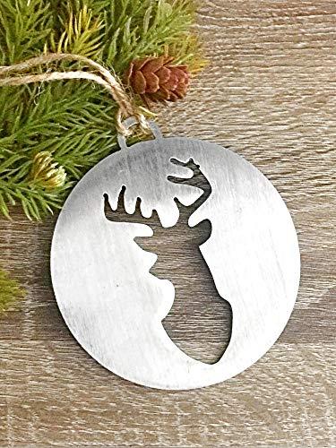 Amazon Com Rustic Metal Christmas Ornament Handmade Deer Holiday