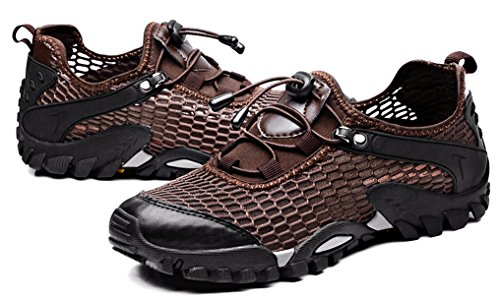 19dd27acbd46a LOUECHY Men's Ponrea Mesh Hiking Shoes Breathable Water Shoes ...