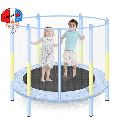 HANSHAN Trampoline Trampoline,with Safety Net Basketball Frame Trampoline - 2019 Upgrade - Children's Trampoline 48 × 55 Inch