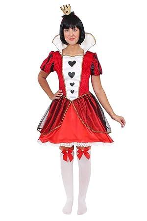 Queen of Hearts Sexy Ladies Fancy Dress Costume (disfraz): Amazon ...