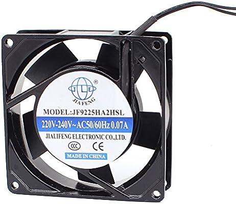 sourcingmap AC 220V-240V 90mmx90mmx 25mm 5 paletas de ventilador ...