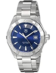 TAG Heuer Mens Swiss Quartz Stainless Steel Casual Watch, Color:Silver-Toned (Model: WAY1112.BA0928)