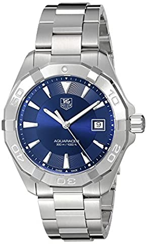 TAG Heuer Men's Swiss Quartz Stainless Steel Casual Watch, Color:Silver-Toned (Model: (Bezel Tag Heuer)