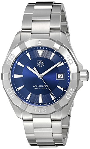 TAG Heuer Men's Swiss Quartz Stainless Steel Casual Watch, Color:Silver-Toned (Model: WAY1112.BA0928) ()