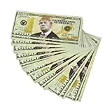 Realistic Double Sided Trump Prop Money Funny for Democrats or Republicans Funniest Political Gift Set of 100 $1,000 Dollar Bills Novelty, 6.25 x 2.5 Inches